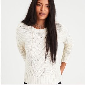 American Eagle Outfitters ivory knit sweater